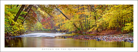 """Autumn on The Quinnipiac River"". A palette of Autumn colors as the Quinni flows through the South Meriden area along the banks of the linear trail. Truly a hidden gem in Meriden."