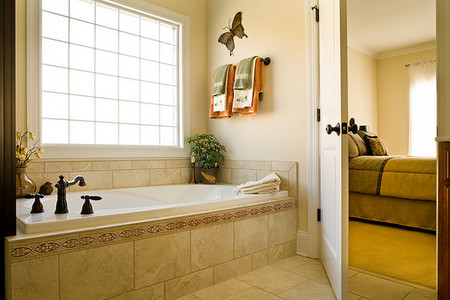 Bath and Bedroom of a private home