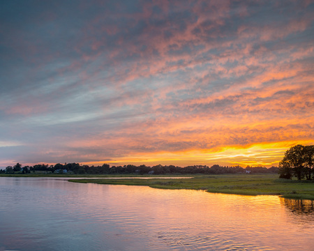 "#10 ""Sunset at Black Hall River""